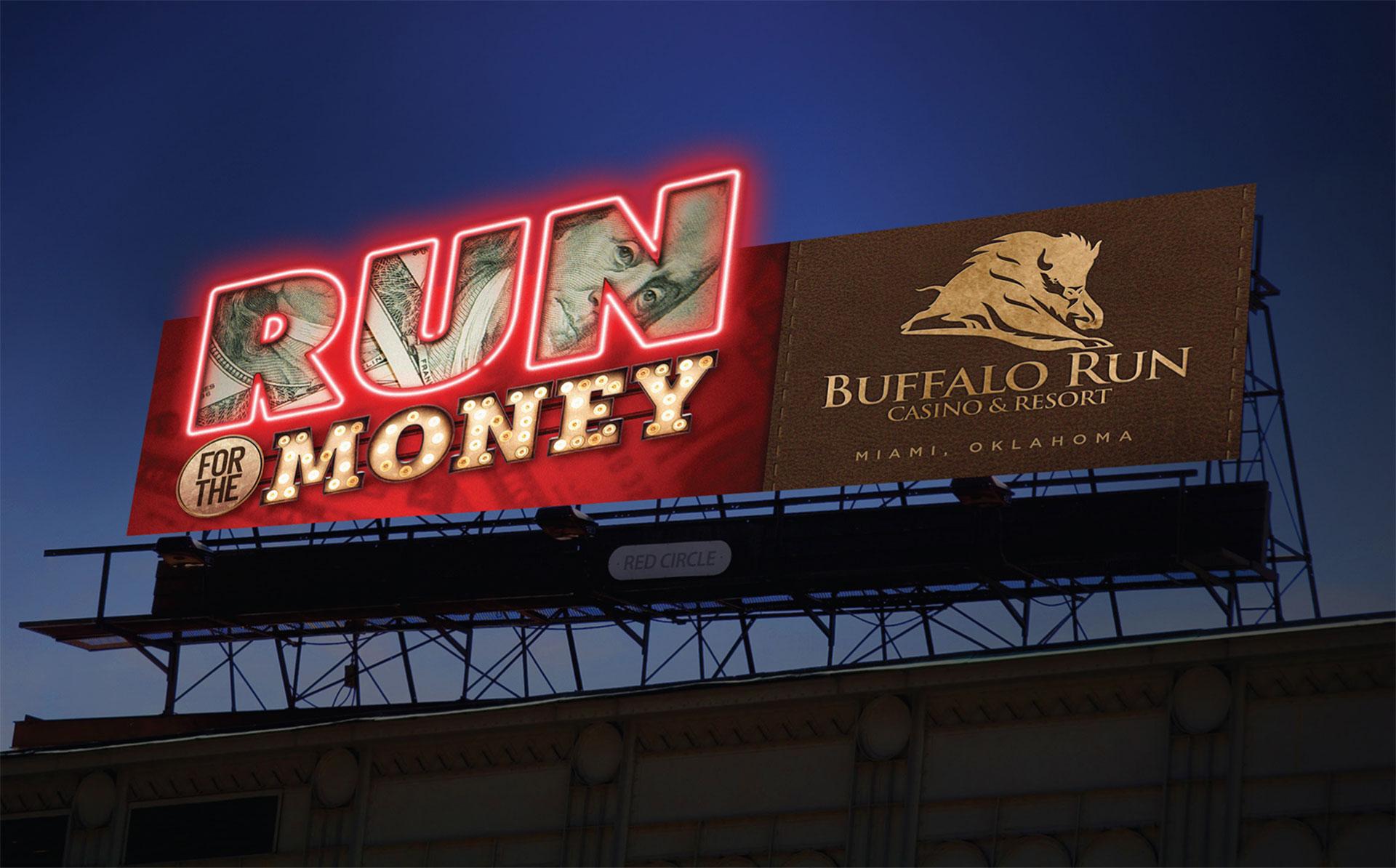 Buffalo Run Casino Billboard